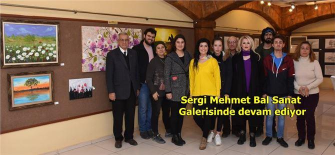 Tarsus'ta meslek edindirme öğrencilerinin resim sergisi devam ediyor