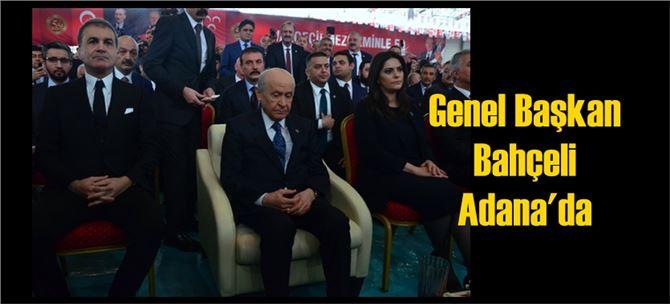 Bahçeli, MHP'nin 50. kuruluş yıl dönümü için Adana'da