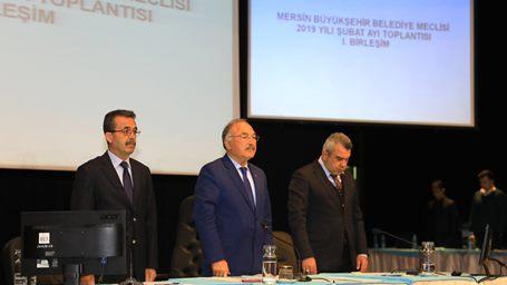 Mersin Büyükşehir Belediyesi Şubat ayı meclisi gerçekleştirildi