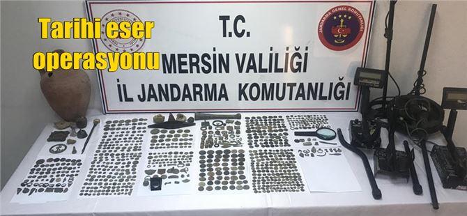 Tarsus'ta 6 kişi tarihi eserlerle yakalandı