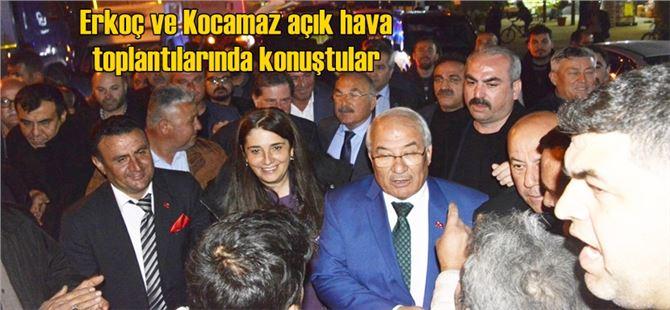 Tarsus'ta Erkoç'a, Büyükşehir'de Yılmaz'a oy istedi