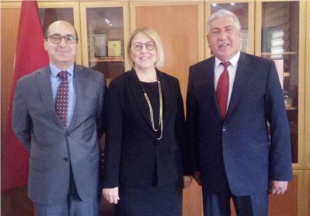 Halk Bank Yetkililerinden Mahmut Şahin'e Ziyaret