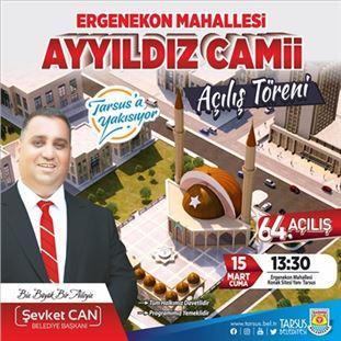 Tarsus'ta Ayyıldız Camii Açılıyor