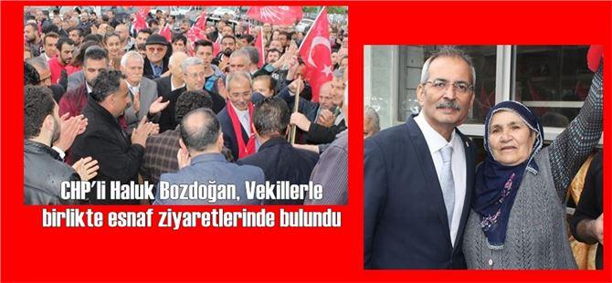 Haluk Bozdoğan, Cetvel bölgesinde esnaf ziyareti yaptı