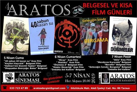 """Tarsus'ta 4. """"Aratos Belgesel ve Kısa Film Günleri"""" başlıyor"""