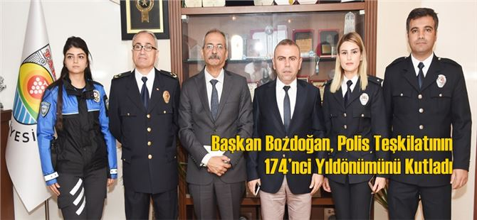Başkan Bozdoğan, Polis Teşkilatının 174'nci Yıldönümünü Kutladı