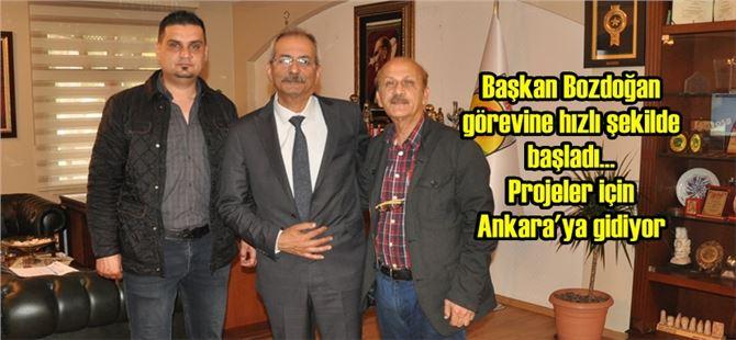 Başkan Haluk Bozdoğan, projeler için Ankara'ya gidiyor