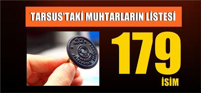 Tarsus 2019 Muhtarlar Listesi