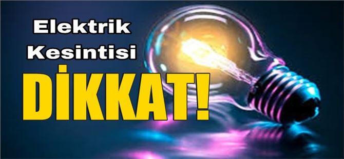 Tarsus'un büyük bölümünde 21 Nisan Pazar günü elektrik kesintisi