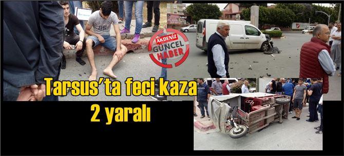 Tarsus kent merkezinde kaza: 2 yaralı