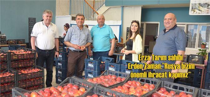 """Erza Tarım sahibi Erden Zaman:""""Rusya bizim önemli ihracat kapımız"""""""