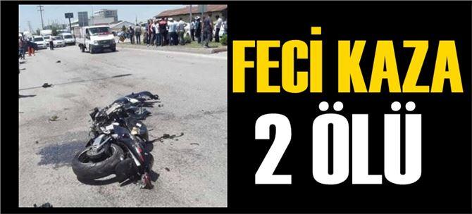 Motosikletle feci kaza, 2 ölü, ibre 280'de takılı kaldı