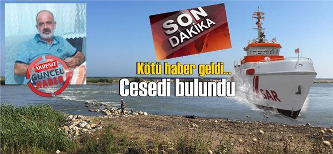 Tarsus sahilinde kayboldu, cesedi Mersin limanı açıklarında bulundu