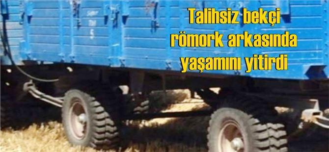 Tarsus'ta bekçilik yapan şahsın römork arkasında cesedi bulundu