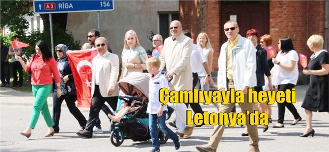 Çamlıyayla heyeti Letonya'da
