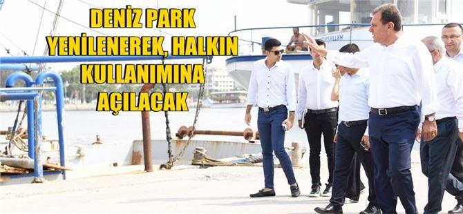 Başkan Seçer atıl vaziyette olan Deniz Park'ta incelemelerde bulundu