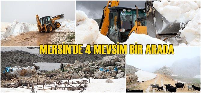 Büyükşehir'den Haziran'ın ortasında kar mücadelesi