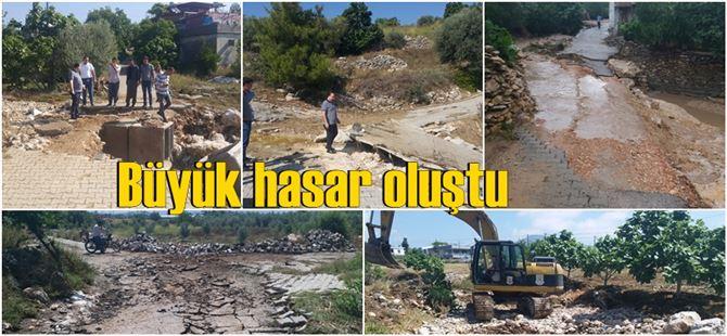 Çokak ve Çavuşlu mahallerindeki hasarı onarmak için Belediye seferber oldu