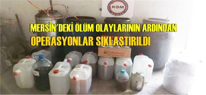 Tarsus'ta 600 litre kaçak boğma rakı ele geçirildi