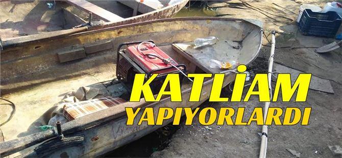 Tarsus'ta balıklara elektrik vererek katliam yapıyorlardı