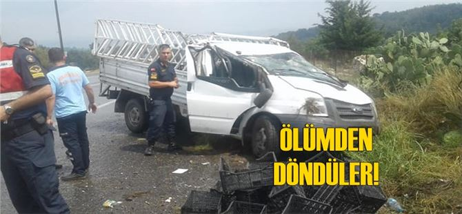 Tarsus'ta araç takla attı; 2 kişi ölümden döndü