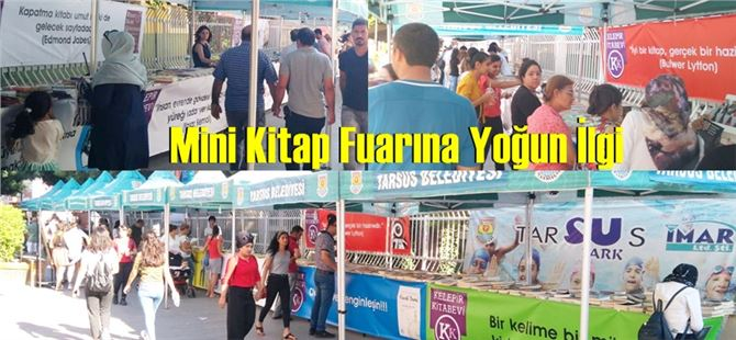 Tarsus'taki mini kitap fuarına yoğun ilgi