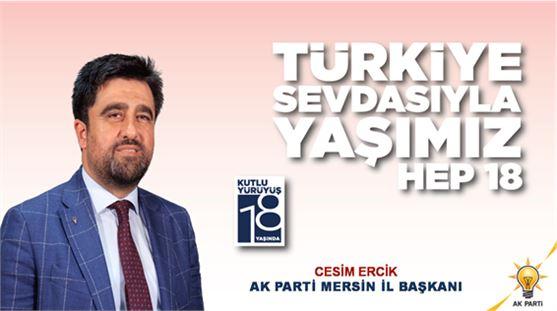 Ercik, Partisi'nin 18.Kuruluş yıldönümünü kutladı.