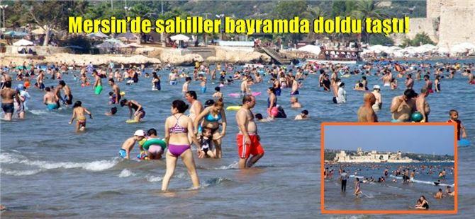 Mersin'de sahiller bayramda doldu taştı!