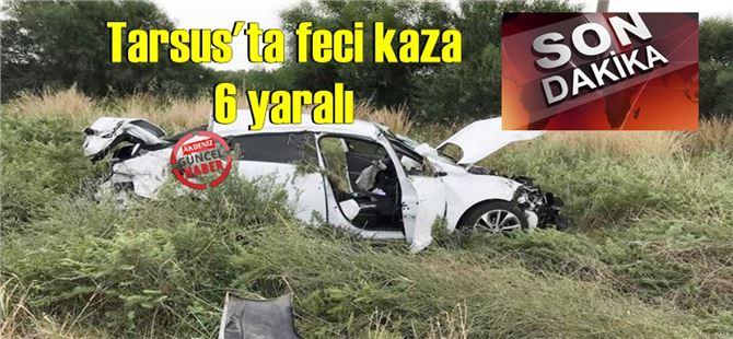 Tarsus-Adana arasında otomobil takla attı: 6 yaralı