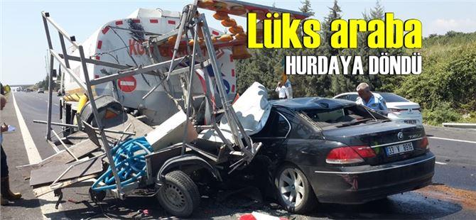 Tarsus-Mersin arasında feci kaza