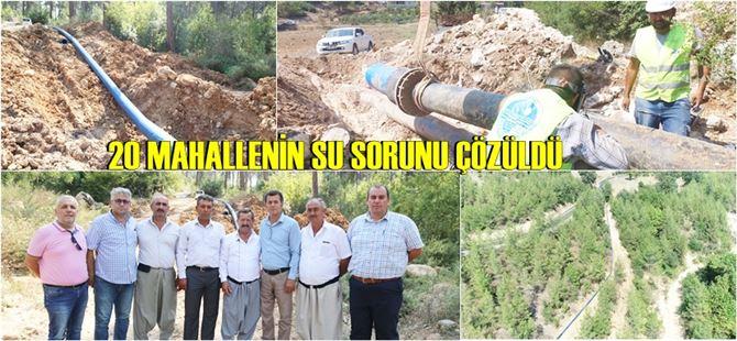 Tarsus'ta 20 mahallenin su sorunu çözüldü