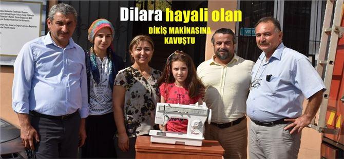 Belediye, Dilara'nın istediği dikiş makinasını aldı