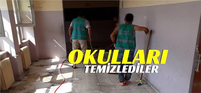 Tarsus Denetimli Serbestlik Müdürlüğünce Okullarda Temizlik Gerçekleştirildi