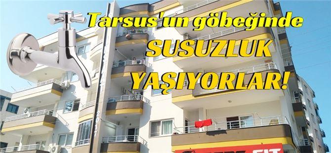 """Tarsus'ta Damla apartman sakinlerinin """"hidrofor"""" sıkıntısı"""