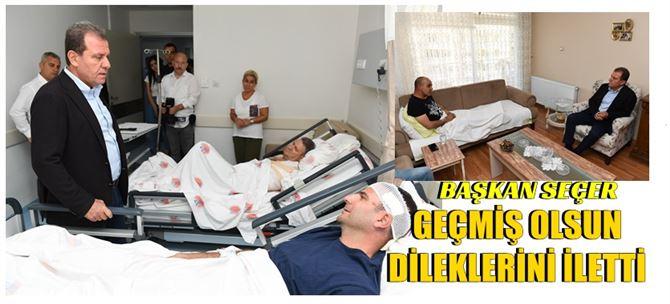 Başkan Seçer kazada yaralanan personeli ziyaret etti