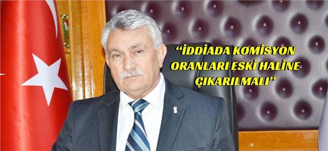 """Erdoğan Yalçın, """"İddiada komisyon oranları eski haline çıkarılmalı"""""""