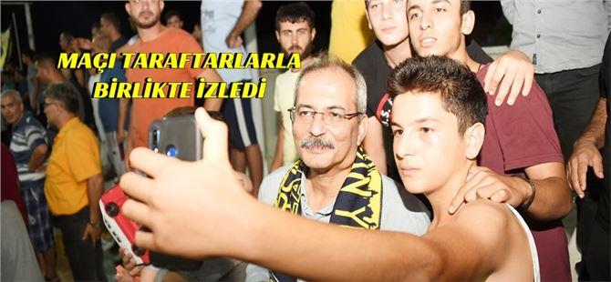 Başkan Bozdoğan, Sarıyer maçını taraftarla birlikte maç izledi