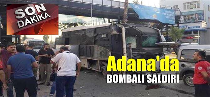 Adana'da Çevik Kuvvet otobüsüne bombalı saldırı