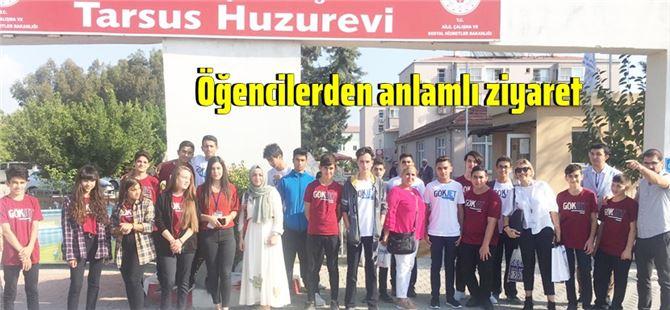 Çukurova Gökjet Havacılık Lisesi'nden, Tarsus Huzurevi'ne ziyaret
