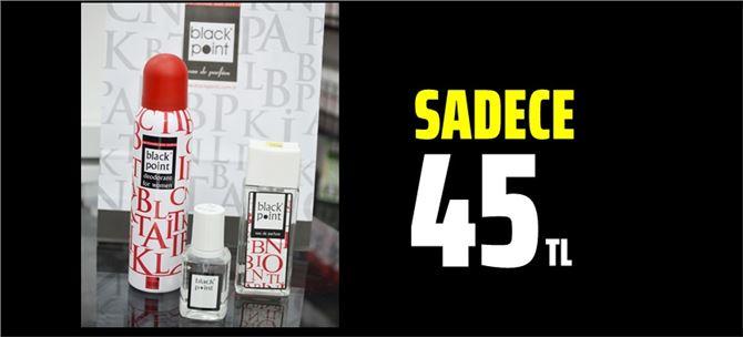 Tarsus Black Point parfümeride 3'lü set sadece 45 TL
