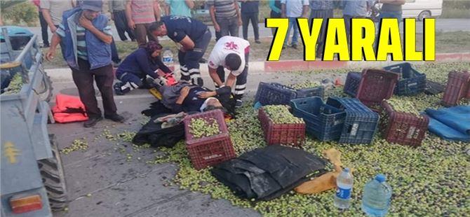 Mersin'de tarım işçileri kaza yaptı: 7 yaralı