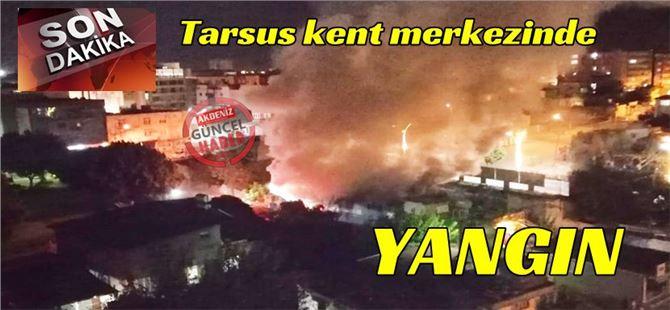 Tarsus kent merkezinde ev yangını; 1 kişi yaralı