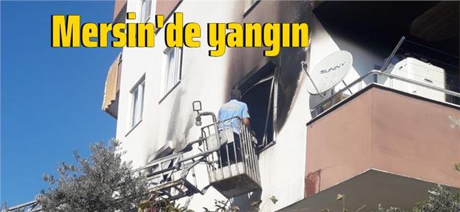 Mersin'de yangın: 1 yaralı
