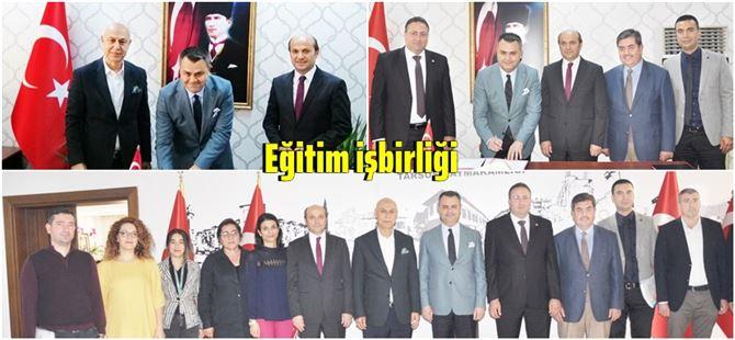 Tarsus'ta Eğitim İşbirliği Protokolü kapsamında 3 proje imzalandı