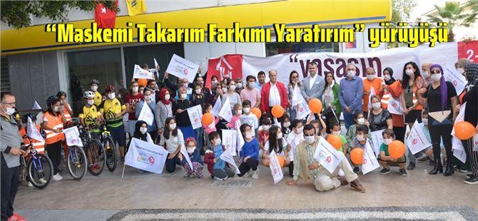 """LÖSEV'den Tarsus'ta """"Maskemi Takarım Farkımı Yaratırım"""" yürüyüşü"""