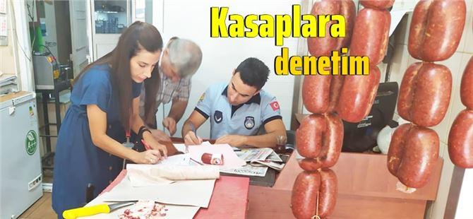 Tarsus'ta zabıta ve sağlık işleri ekipleri kasap denetimi gerçekleştirdi