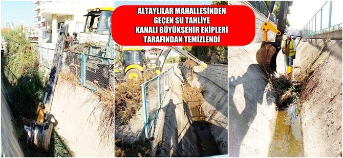 Büyükşehir, Tarsus'ta kanal ve derelerde temizlik çalışmalarına devam ediyor