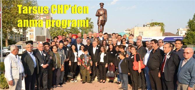 Tarsus CHP'den anıt önünde anma programı