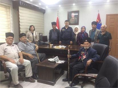 Kuvayi Milliye Derneğinden Jandarma Komutanına Ziyaret