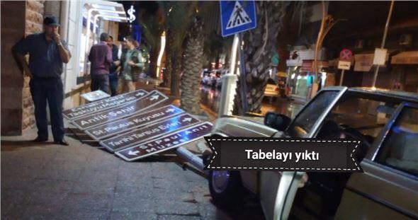 Tarsus iş bankası kavşağında kaza